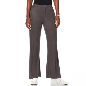 NWT Soft & Cozy Luxe Knit Ribbed Pants Large Gray